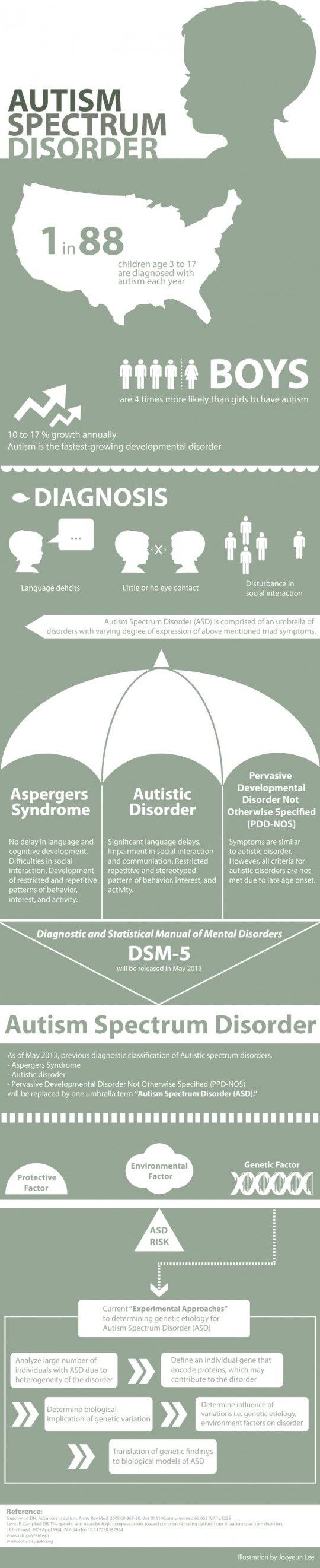autism spectrum disorder in the US - informative sheet